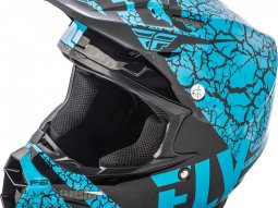 Casque cross Fly Racing F2 Carbon Fracture noir / bleu