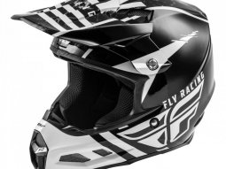 Casque cross Fly Racing F2 Carbon Mips granite blanc / noir / gris