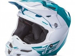 Casque cross Fly Racing F2 Carbon Pure bleu / blanc