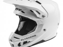 Casque cross Fly Racing Formula Carbon blanc