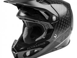 Casque cross Fly Racing Formula Carbon noir carbone