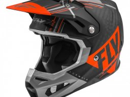 Casque cross Fly Racing Formula Carbon Vector orange / gris / noir mat