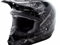 Casque cross Fly Racing Kinetic Crux noir