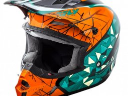 Casque cross Fly Racing Kinetic Crux orange / bleu / noir