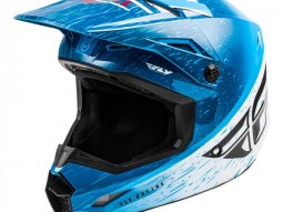 Casque cross Fly Racing Kinetic K120 bleu / blanc / rouge