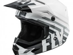 Casque cross Fly Racing Kinetic Thrive blanc / noir / gris