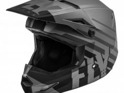 Casque cross Fly Racing Kinetic Thrive gris foncé / noir mat
