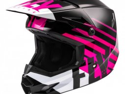 Casque cross Fly Racing Kinetic Thrive rose / noir / blanc
