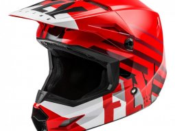 Casque cross Fly Racing Kinetic Thrive rouge / blanc / noir