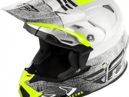 Casque cross Fly Racing Toxin Mips Embargo blanc / noir