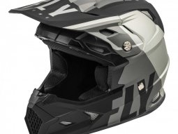 Casque cross Fly Racing Toxin Mips Transfer gris / noir mat