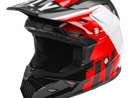 Casque cross Fly Racing Toxin Mips Transfer rouge / noir / blanc