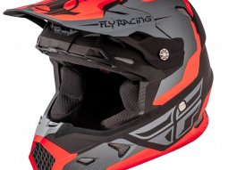 Casque cross Fly Racing Toxin orange mat / gris