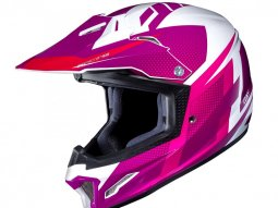 Casque cross HJC CL-XY II Argos blanc / rose