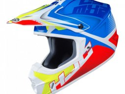 Casque cross HJC CS-MX II Ellusion MC23 bleu / rouge / vert fluo
