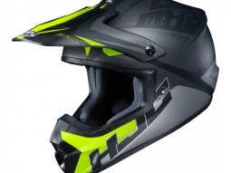 Casque cross HJC CS-MX II Ellusion MC5SF noir / gris / vert fluo mat