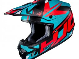Casque cross HJC CS-MX II Madax bleu turquoise / orange