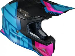 Casque cross Just1 J12 Unit bleu / rose / carbone mat