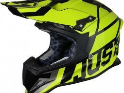 Casque cross Just1 J12 Unit jaune / carbone