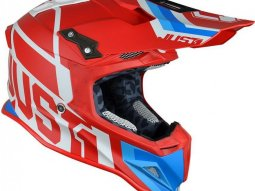 Casque cross Just1 J12 Unit rouge / blanc / bleu mat