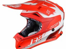 Casque cross Just1 J32 Pro Kick rouge / blanc mat