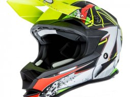 Casque cross Lazer OR1 Aerial carbone / jaune / rouge