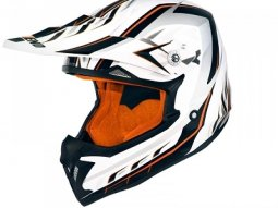Casque cross Noend Defcon 5 blanc / orange