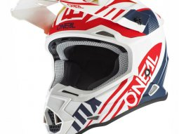 Casque cross ONeal 2SRS Spyde 2.0 blanc / bleu / rouge