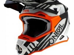 Casque cross ONeal 2SRS Spyde 2.0 noir / blanc / orange