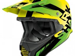 Casque cross Shark VARIAL ANGER jaune / noir / vert
