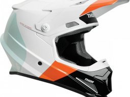 Casque cross Thor Sector Mips blanc / orange / rouge