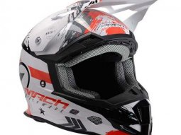 Casque cross Trendy T-902 Mach1 blanc / rouge