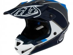 Casque cross Troy Lee Designs SE4 Polyacrylite Beta blanc / gris