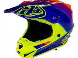 Casque cross Troy Lee Designs SE4 Polyacrylite Beta jaune / violet