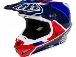 Casque cross Troy Lee Designs SE4 Polyacrylite Beta rouge / bleu
