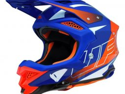 Casque cross UFO Diamond bleu / orange