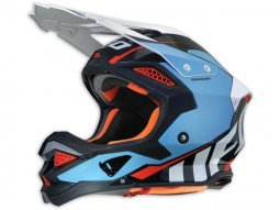 Casque cross UFO Diamond bleu / rouge / noir