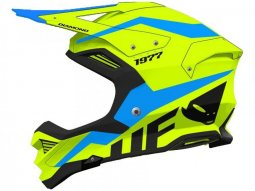 Casque cross Ufo Diamond jaune fluo / bleu
