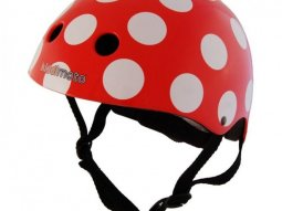 Casque enfant Kiddimoto Red And Dotty