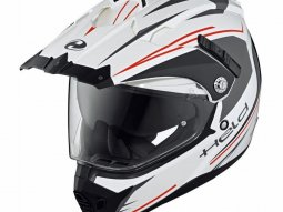 Casque intégral Held ALCATAR blanc / rouge