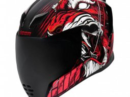 Casque intégral Icon Airflite Trumbull rouge