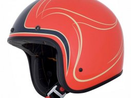 Casque jet AFX FX76 CLAYMORE orange / bleu