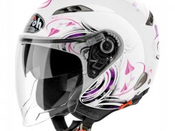 Casque jet Airoh City One Heart blanc