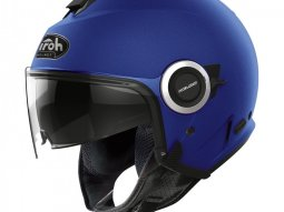 Casque jet Airoh Helios Color bleu mat