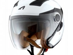 Casque jet Astone FJ10 Fiber mono color blanc gloss