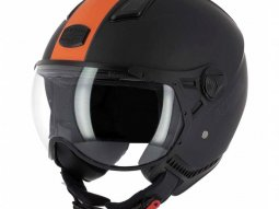 Casque jet Astone KSR 2 mat noir / orange