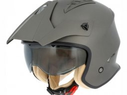Casque jet Astone MINI CROSS Monocolor marron mat