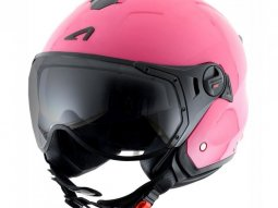 Casque jet Astone MINIJET S SPORT monocolor rose gloss