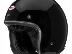Casque jet Bell Custom 500 noir brillant