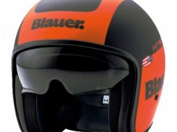 Casque jet Blauer Pilot 1.1 Graphic G orange / noir mat